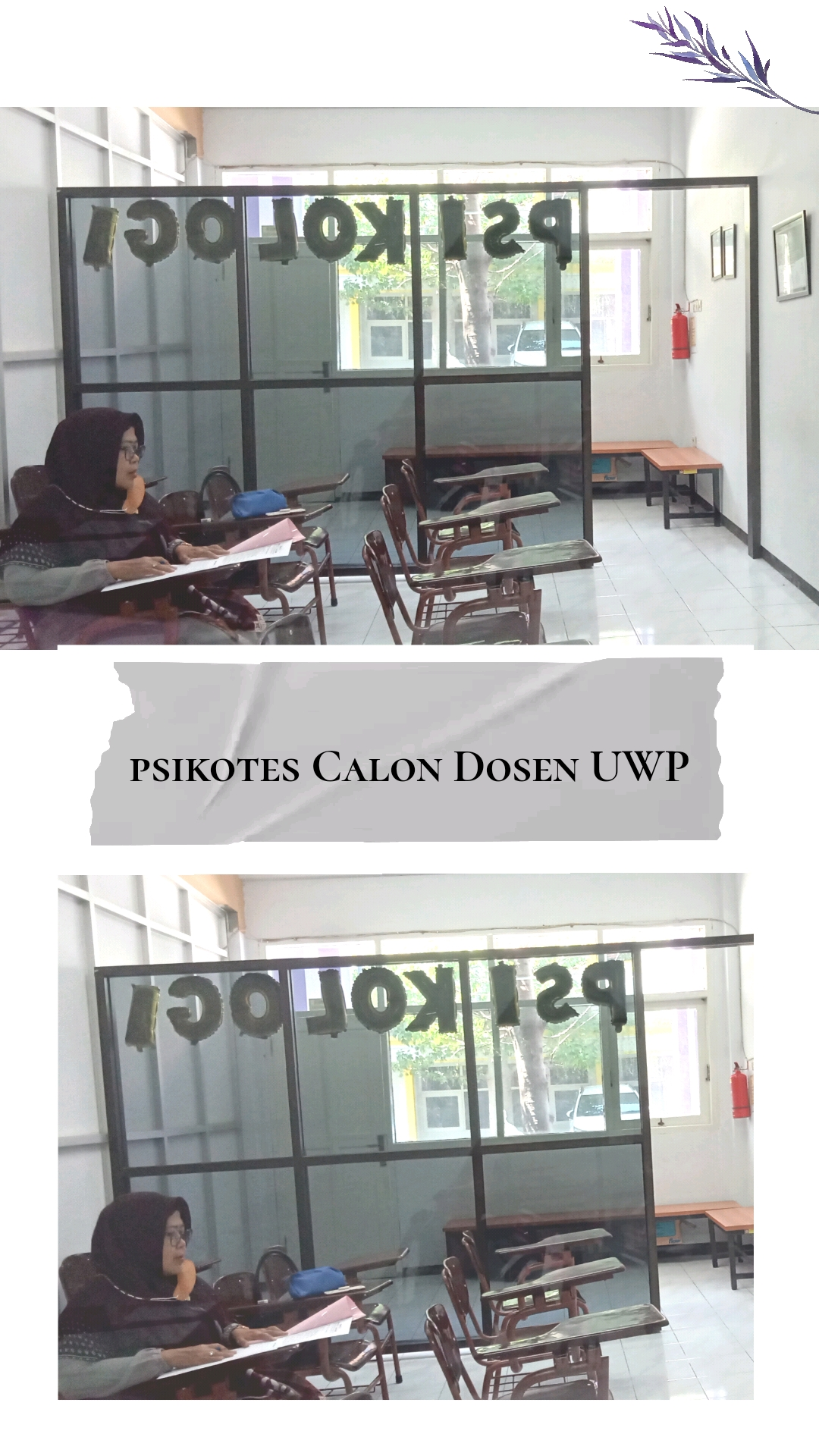 <p>Kamis, 22 April 2021</p><p>Psikotes Calon Dosen UWP</p><p>                                                                                                  </p>